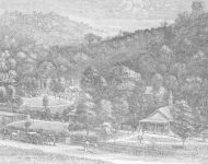 Doolan's Ukiah Vichy Springs and etching 1866
